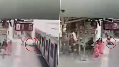 Viral Video: चलती लोकल ट्रेन में चढ़ते समय फिसला यात्रा, मुंबई RPF पुलिस ने ऐसे बचाई जान