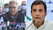 Bhupesh Baghel on Congress President: कांग्रेस अध्यक्ष को लेकर पार्टी के नेताओं की तरफ से बयानबाजी शुरू, भूपेश बघेल बोले-राहुल गांधी प्रेसिडेंट के लिए सबसे बेहतर विकल्प