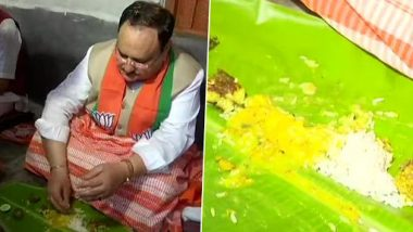 पश्चिम बंगाल दौरे पर जे.पी. नड्डा, BJP नेताओं के साथ जगदानंदपुर गांव में किसान के घर पर खाया खाना- देखें तस्वीरें