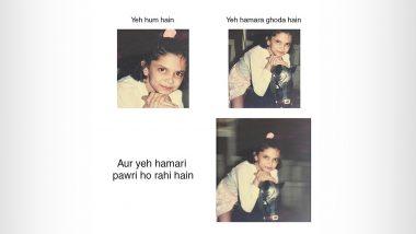 Deepika Padukone ने 'Pawri Ho Rahi Hai' स्टाइल में शेयर की  बचपन की ये क्यूट Photos, पहचान पाना है मुश्किल