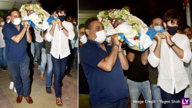 RIP Rajeev Kapoor: पंचतत्व में विलीन हुए Rajeev Kapoor, आखिरी विदाई देने पहुंचे ये सितारें (See Pics)
