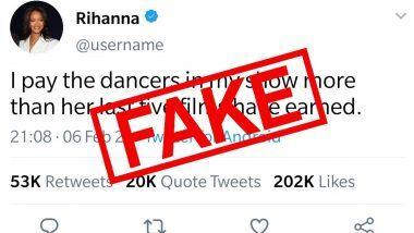 क्या Rihanna ने सच में कहा है कि वो अपने डांसर्स को Kangana Ranaut की 5 फिल्मों से ज्यादा पैसे देती हैं? जानिए वायरल हो रहे इस ट्वीट की सच्चाई