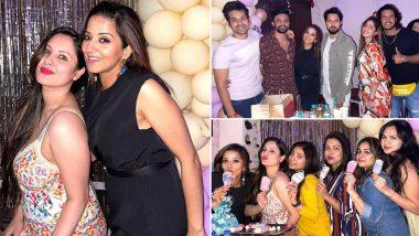 Puja Banerjee के जन्मदिन परभोजपुरी एक्ट्रेस Monalisa ने मचाई धूमधाम, देर रात तक की पार्टी, देखें Inside Photos