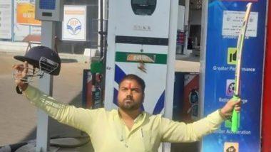 Viral Pic: भोपाल में प्रीमियम पेट्रोल की कीमत 100 रुपए के पार, शख्स ने बैट और हेलमेट उठाकर ऐसे जताया विरोध