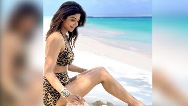 Shilpa Shetty Bikini Photo: एनिमल प्रिंट बिकिनी पहन शिल्पा शेट्टी ने दिखाया अपना ग्लैमरस अवतार, पानी में आग लगाने वाली फोटो की शेयर