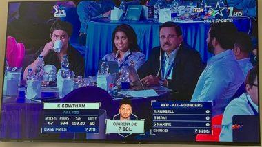 IPL Auction 2021 के दौरान Juhi Chawla की बेटी Jahnavi संग नजर आए Shah Rukh Khan के बेटे Aaryan Khan, देखें Photo