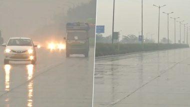 Delhi Rains: राजधानी दिल्ली में बदला मौसम का मिजाज, कई इलाकों में बारिश; देखें वीडियो