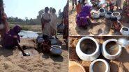Chhattisgarh: बलरामपुर जिले के कुंदरू गांव में नाले का पानी पीने पर मजबूर हुए लोग, देखें तस्वीर