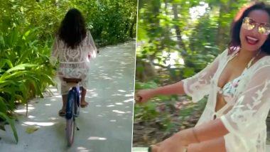 Bipasha Basu Sexy Outfit: बिपाशा बसु ने मालदीव से शेयर किया वीडियो, सेक्सी आउटफिट में साइकल चलाती आई नजर