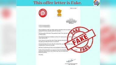 Fact Check: रेल मंत्रालय ने क्लर्क के पद के लिए जारी किया अपॉइंटमेंट लेटर? PIB फैक्ट चेक से जानें सच्चाई
