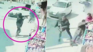 श्रीनगर में सुरक्षाबलों पर आतंकी हमला, दो जवान हुए घायल; CCTV मे फायरिंग करते आतंकी दिखे (Watch Video)