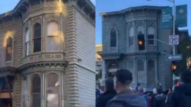 सड़क पर अचानक चलने लगा 139 साल पुराना घर, नजारा देख लोगों के पैरों तले खिसकी जमीन (Watch Viral Video)