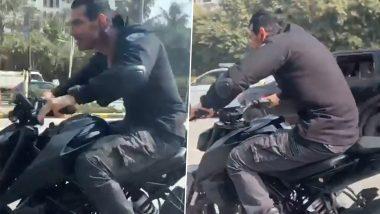 VIDEO: John Abraham ने एक बार फिर मचाई Dhoom, स्पोर्ट्स बाइक पर दिखा उनका ये हिट अंदाज