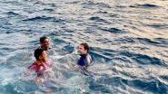 VIDEO: केरल में कांग्रेस नेता राहुल गांधी ने समुद्र में लगाई डुबकी, मछुआरों के साथ तैरते हुए आए नजर
