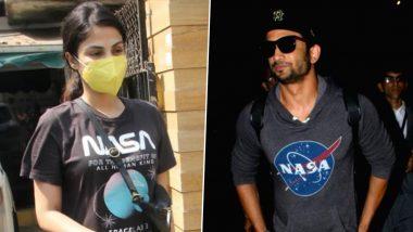 Rhea Chakraborty ने Sushant Singh Rajput की याद में पहनी ये खास टी-शर्ट, देखें ये बेहद स्पेशल Photos