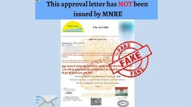 Fact Check: कुसुम योजना के तहत सोलर पंप लगाने के लिए सरकार ले रही है 5,600 रुपए का कानूनी शुल्क? PIB से जानें Approval Letter की सच्चाई