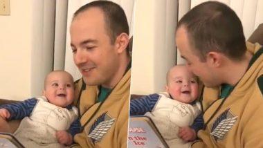 Adorable Baby Laughing Video: स्टोरी सुनाने के लिए पिता ने निकाली अलग अलग आवाजें, बच्ची का रिएक्शन देखकर बन जाएगा आपका दिन