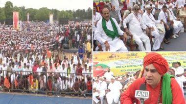 Karnataka: लिंगायत समुदाय के सदस्यों ने 2 ए आरक्षण के लिए की रैली- जवाब न देने पर सत्याग्रह की दी धमकी
