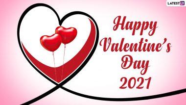 Valentine's Day 2021 Images & HD Wallpapers: हैप्पी वैलेंटाइन डे! अपने प्यार को भेजें ये आकर्षक WhatsApp Stickers, GIF Greetings और Photo SMS