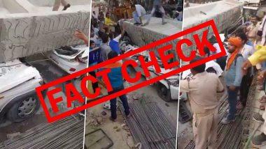 Fact Check: ठाणे के बालकुम में ढहा मेट्रो पिलर? 2018 के वाराणसी फ्लाईओवर हादसे का वीडियो गलत दावे के साथ हुआ वायरल