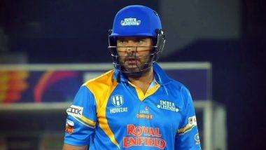 Road Safety World Series 2021: फाइनल मुकाबले में युवराज सिंह और यूसुफ पठान की तूफानी बल्लेबाजी, इंडिया लीजेंड्स ने श्रीलंका लीजेंड्स को दिया 182 रन का लक्ष्य