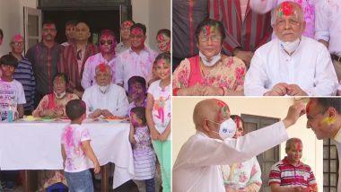 भारत में नेपाल के राजदूत नीलांबर आचार्य ने मनाया होली