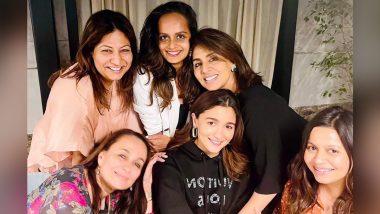 Alia Bhatt ने रणबीर कपूर की मां नीतू सिंह, सोनी राजदान और बहन शाहीन संग काटा बर्थडे केक, वीडियो आया सामने