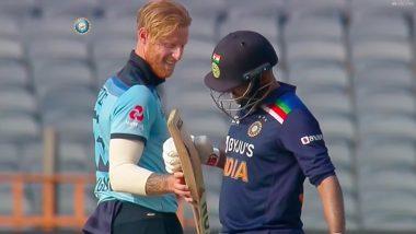 Ind vs Eng 3rd ODI 2021: शार्दुल ठाकुर ने जड़ा सिक्स तो उनका बल्ला चेक करने लगे बेन स्टोक्स, देखें वीडियो