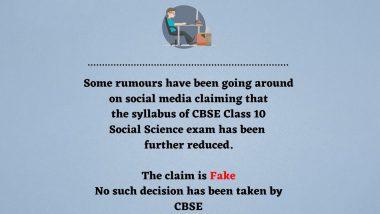 Fact Check: CBSE क्लास 10th सामाजिक विज्ञान परीक्षा का सिलेबस हो गया है और कम? PIB से जानें सच्चाई
