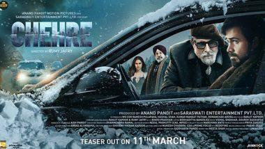 Chehre: अमिताभ बच्चन ने फिल्म चेहरे का नया पोस्टर किया रिलीज, बताया कब रिलीज होगा टीजर