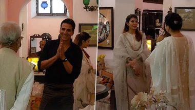 Ram Setu Movie: श्रीराम जन्मभूमि तीर्थक्षेत्र ट्रस्ट के सदस्यों से मिले Akshay Kumar-Jacqueline Fernandez, शुरू की फिल्म 'रामसेतु' की शूटिंग