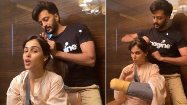 Genelia D'souza के लिए हेयर स्टाइलिस्ट बने Riteish Deshmukh, पत्नी के बाल संवारते हुए शेयर किया ये Video