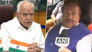 कर्नाटक सरकार में मंत्री केएस ईश्वरप्पा ने सीएम बीएस येदियुरप्पा पर लगाए उनके काम में हस्तक्षेप करने का आरोप, राज्यपाल से की शिकायत