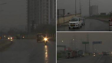 Delhi-NCR Rains: अंधेरा आसमान और बादलों की गडगडाहट ने दिल्लीवासियों को दिलाई मानसून की याद, देखें वीडियो