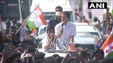 राहुल गांधी ने कन्याकुमारी में रोड शो के दौरान पीएम पर साधा निशाना, कहा-प्रधानमंत्री तमिलनाडु को टीवी की तरह देखते हैं और उन्हें लगता है वे रिमोट से इसे बदल देंगे