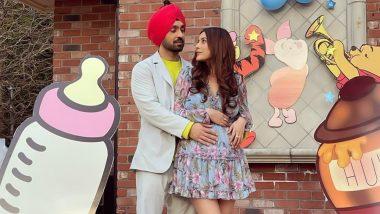 Shehnaaz Gill ने बेबी बंप फ्लौंट करती हुईं Diljit Dosanjh संग शेयर की Photo, फिल्म 'Honsla Rakh' के सेट से ये तस्वीरें हुई Viral