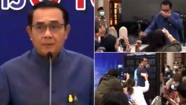 थाईलैंड के प्रधानमंत्री पत्रकारों के सवाल पर भड़के, सैनिटाइजर का किया छिड़काव- देखें वीडियो