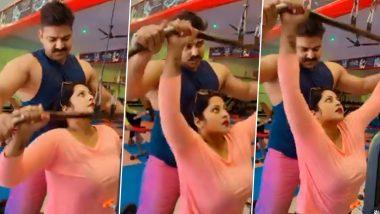 एक्ट्रेस Anjana Singh के लिए फिटनेस ट्रेनर बने भोजपुरी सुपरस्टार Pawan Singh, जिम में कराया हार्ड वर्कआउट, देखें Video