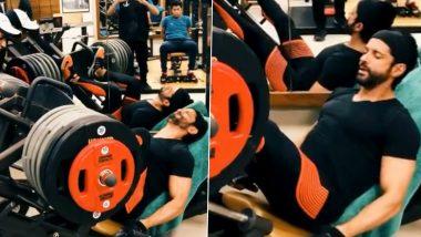 Morning Motivation: Farhan Akhtar ने जिम में दिखाया अपना दमखम, Leg Workout का Video हुआ Viral