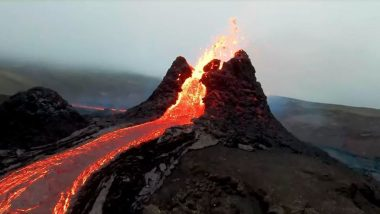 Shocking Video: आइसलैंड में 800 बाद फटा ज्वालामुखी, ड्रोन कैमरे ने कैद किया हैरान करने वाला वीडियो