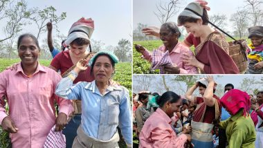 Assembly Elections 2021: प्रियंका गांधी ने चाय के बागान में श्रमिकों के साथ पत्तियां तोड़ी, देखें वीडियो