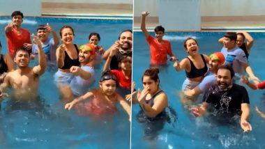 Neha Kakkar को गोदी में उठाकर स्विमिंग पूल में डांस करते दिखे Rohanpreet Singh, Holi सेलिब्रेशन का मजेदार Video हुआ Viral