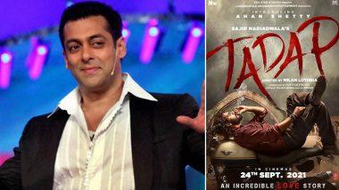 Suniel Shetty के बेटे Ahan Shetty के बॉलीवुडडेब्यू पर Salman Khan ने दी बधाई, शेयर किया 'Tadap' का फर्स्ट पोस्टर