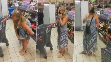 Viral Video: महिला ने सुपरमार्केट में सबके सामने अंडरवियर निकालकर मास्क की तरह पहना, देखें वीडियो