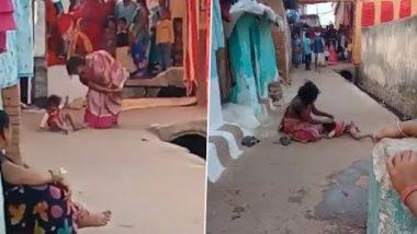Viral Video: सोशल मीडिया पर एक निर्दयी मां द्वारा 3 वर्षीय बेटी को बेरहमी से पीटने का वीडियो वायरल, लोग बने रहे मूक दर्शक