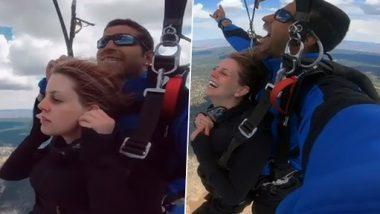 Viral Video: स्काइडाइविंग के दौरान शख्स ने प्रेमिका को किया प्रपोज, देखें हैरान कर देनेवाला वीडियो