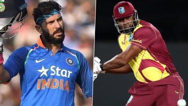 T20 क्रिकेट में Kieron Pollard ने लगाए लगातार छह छक्के, Yuvraj Singh ने इस तरह दी बधाई