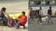 दिल्ली में कोरोना के बढ़ते मामलों के कारण अपने घर लौट रहे प्रवासी श्रमिक