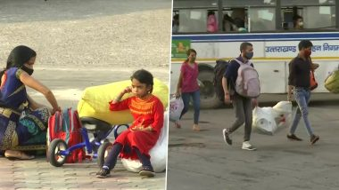 Corona Pandemic: दिल्ली में कोरोना के बढ़ते मामलों के कारण अपने घर लौट रहे प्रवासी श्रमिक