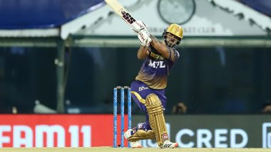 SRH vs KKR 3rd IPL Match 2021: नीतीश राणा और राहुल त्रिपाठी ने लगाया शानदार अर्धशतक, कोलकाता ने हैदराबाद को दिया 188 रनों का बड़ा लक्ष्य